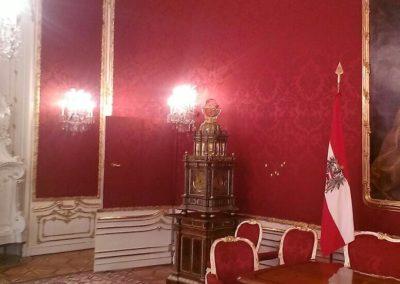 Wandbespannung in der Hofburg